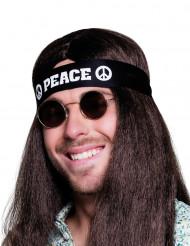 Schwarzes Kopfband Peace für Erwachsene