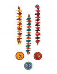 Hängedekoration Indianer 3 Stück bunt 60 cm