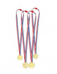 Medaillen 4 Stück gold