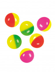Set mit 6 bunten Springbällen 3 cm