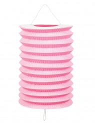 12 Deko-Laternen rosa-weiss