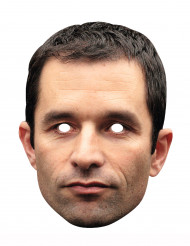 Pappkarton-Maske Benoît Hamon