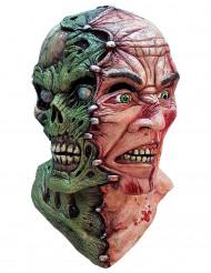 Halloween Maske Zombie mit 2 Gesichtern
