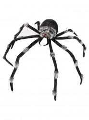 Furchterregende riesen-Spinne Halloween-Deko schwarz-grau 2m