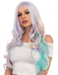 Einhornparücke mit Wellen und Pastellfarben für Damen