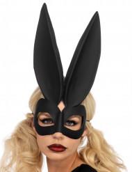 Sexy Kaninchen Maske für Damen schwarz