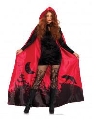 Düsterer Umhang für Halloween rot-schwarz