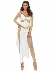 Griechische Göttin Damenkostüm weiss-gold