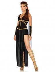 Verführerische Göttin Damenkostüm schwarz