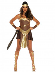 Kriegerin Gladiatorin Damenkostüm braun