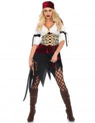 Sexy Barock-Piratin Damenkostüm