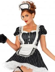 Sexy Zimmermädchen-Kostüm schwarz-weiss