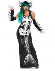 Skelett Meerjungfrau Kostüm für Damen