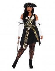 Verführerische Piratin Plus Size Kostüm für Damen