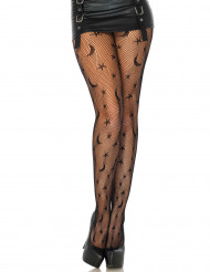 Schwarze Netzstrumpfhose Nachtmuster Damen