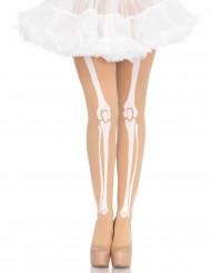 Strumpfhose transparent mit Knochen für Damen