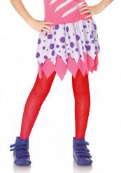 Netzstrumpfhose für Kinder rot