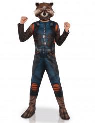 Kostüm mit Maske Rocket Raccoon™ - Guardians of the Galaxie™für Kinder