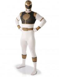 Zweite Haut Kostüme Power Rangers™ weiß für Männer
