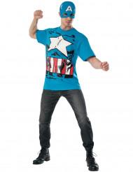 Kostüm und Maske Captain America™ Avengers™