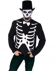 Skelett-Weste für Herren schwarz-weiß