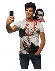 T-Shirt Selfie mit Dracula