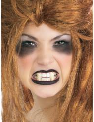 Vampirzähne zum modellieren Halloween 2 Stück weiss