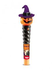 Halloween Kürbis mit Süßigkeiten und Licht