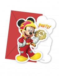 Mickey & Donald™-Einladungskarten und Umschläge jeweils 6 Stück