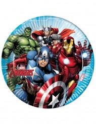 8 Pappteller Avengers™ 23 cm