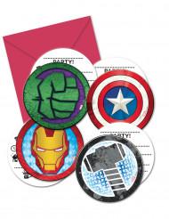 Avengers™-Einladungen und Umschläge jeweils 6 Stück