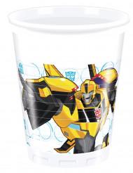 8 Trinkbecher aus Kunststoff 200ml Transformers RID™