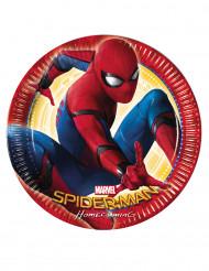 Spiderman™-Pappteller 8 Stück bunt 23cm
