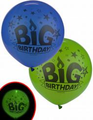 Illooms® LED Geburtstagsballons 2Stück 60cm
