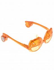 Halloween Kürbis-Brille mit Licht