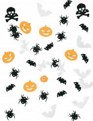 Tischkonfetti Halloween schwarz-weiss-orange 9,07g