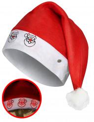 Leuchtende Weihnachtsmann Mütze rot-weiß