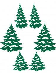 Weihnachtsbaum-Aufkleber Dekoration 6 Stück