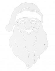 Weihnachtsmann Fenster-Deko weiß 35 cm