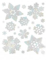 Schneeflocken-Dekorationen klebend Weihnachten  28 x 22 cm