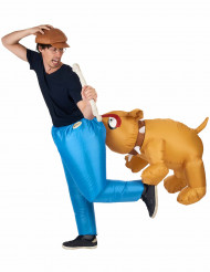 Aufblasbares Carry-Me Bulldogge-Kostüm