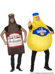 Paarkostüm Orangina Flasche und Bierflasche