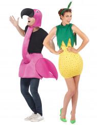 Paarkostüm Flamingo und Ananas