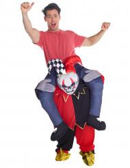Schaurig-lustiges Harlekin-Kostüm für Erwachsene