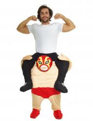 Aufblasbares Carry-Me wrestler Steve kostüm