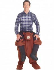 Aufblasbares Carry-Me Kostüm Teddybär