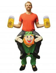 Carry me-Kobold-Kostüm für Erwachsene Saint Patrick