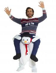 Schneemann Kostüm für Erwachsene Carry me