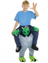 Carry-Me Alien Kostuem für Kinder grün