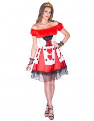 Herz-Dame Kostüm für Damen rot